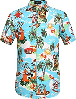 b96c5fa7 Pacific Legend Tropcial Santa Men's Christmas Hawaiian Shirt 3922 ...