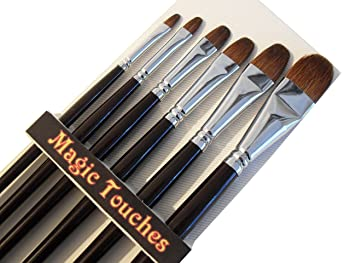 Magic Touches Making Life Magical Red Sable Artist Paint Brushes