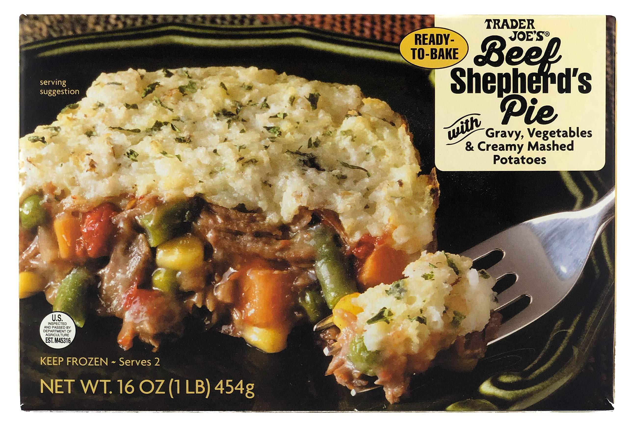 Trader Joe's Beef Shepherd's Pie with Gravy, Vegetables, Creamy Mashed Potatoes (4 Pack)