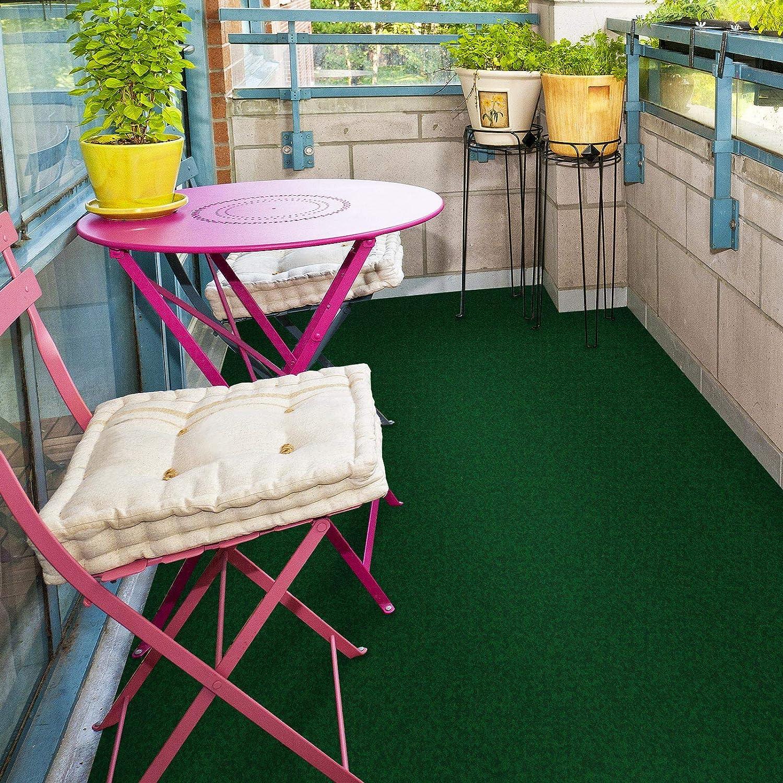 Jardin etc terrasse casa pura Tapis Gazon Artificiel au m/ètre Balcon | Vert fonc/é Moquette ext/érieure 400x200cm Nombreuses Couleurs au Choix