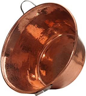 Sertodo Copper, Hand Hammered 100% Pure Copper, Permian Basin with Stainless Steel Handles