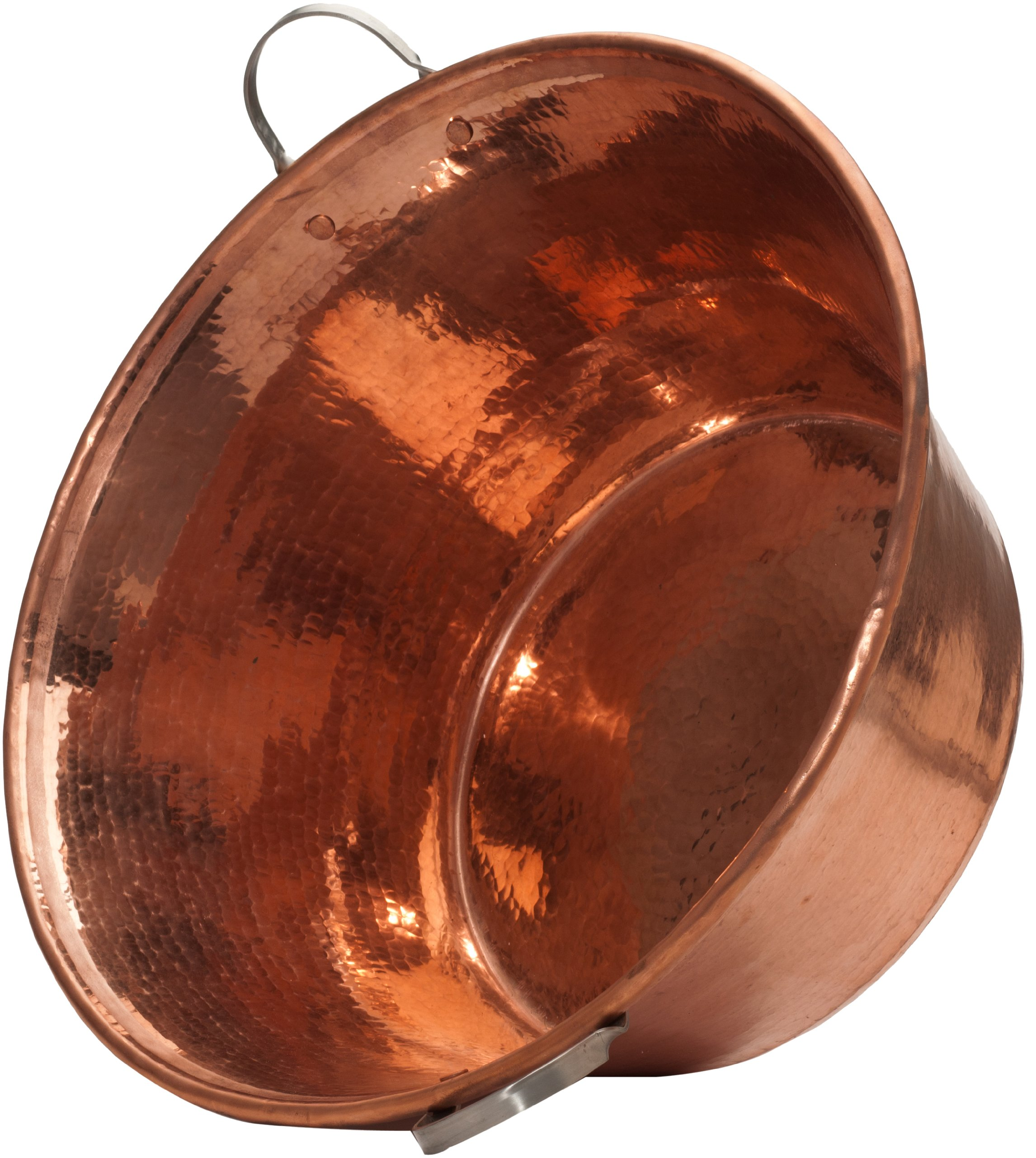 Sertodo Copper, Hand Hammered 100% Pure Copper, Permian Basin with Stainless Steel Handles, 20 inch by 9 inch high