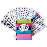 2017-2018 Reminder Binder Planner + Bonus Set of 432 Planner Stickers Gift Set (Planner + Get It Done Stickers)