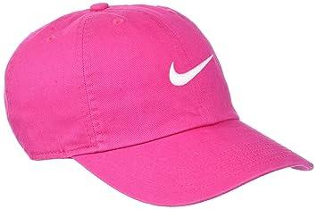 Nike Y Nk H86 Swoosh Gorra de Tenis, Unisex niños, Rosa (Vivid Pink/White), Talla Única: Amazon.es: Deportes y aire libre