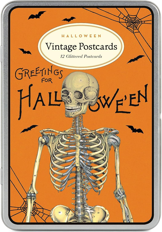 Cavallini Papers /& Co Cavallini Halloween 2 Glitter Vintage Postcards