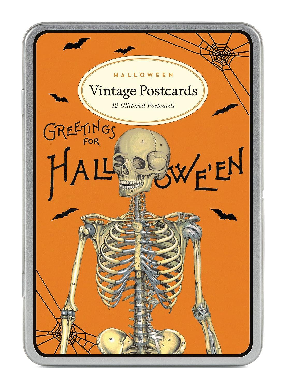 Cavallini Papers & Halloween 2 Glitter Vintage Postcards GG/HAL2
