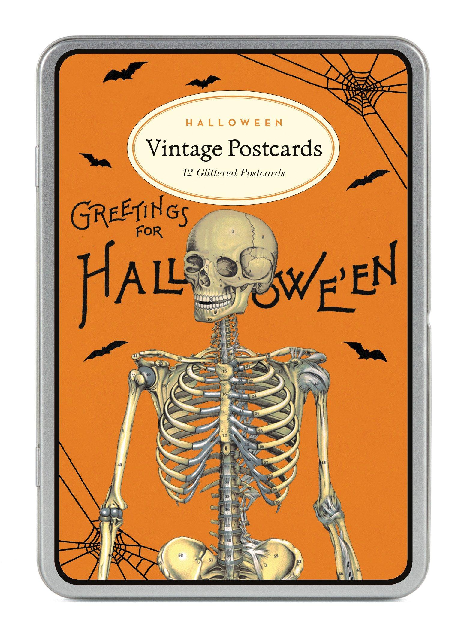 Cavallini Papers & Co. Halloween 2 Glitter Vintage Postcards