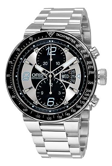 Oris 67976144174MB - Reloj de Pulsera Hombre, Acero Inoxidable, Color Plata: Oris: Amazon.es: Relojes