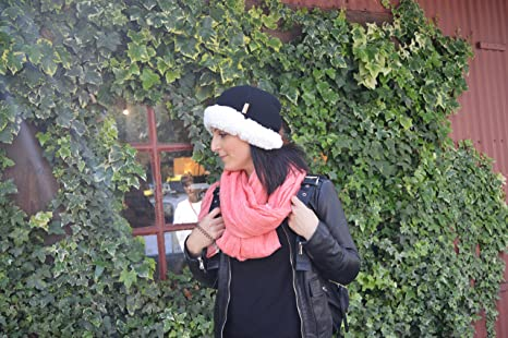 Pudus Corduroy Black Adult one Size Cozy Winter hat with Sherpa Lining at Amazon  Women s Clothing store  5bcd89806164