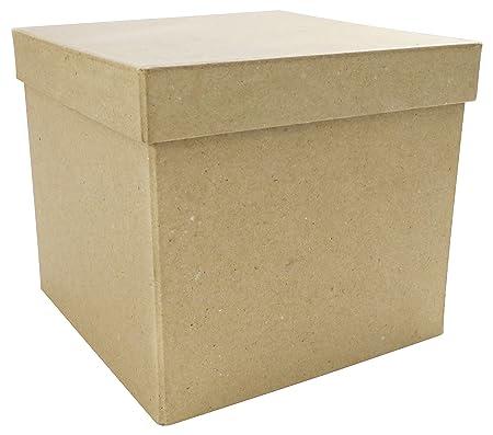 Decopatch Caja de Papel MachÉ Cuadrada, de 16 x 16 x 14 cm, Color ...