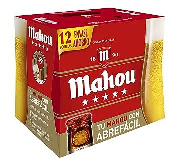 Caja cerveza mahou 5 estrellas x 12botellas 1/4