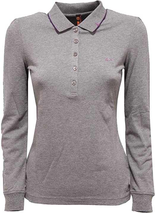SUN 68 81368 Polo Manica Lunga Maglia Donna t-Shirt Women [S ...