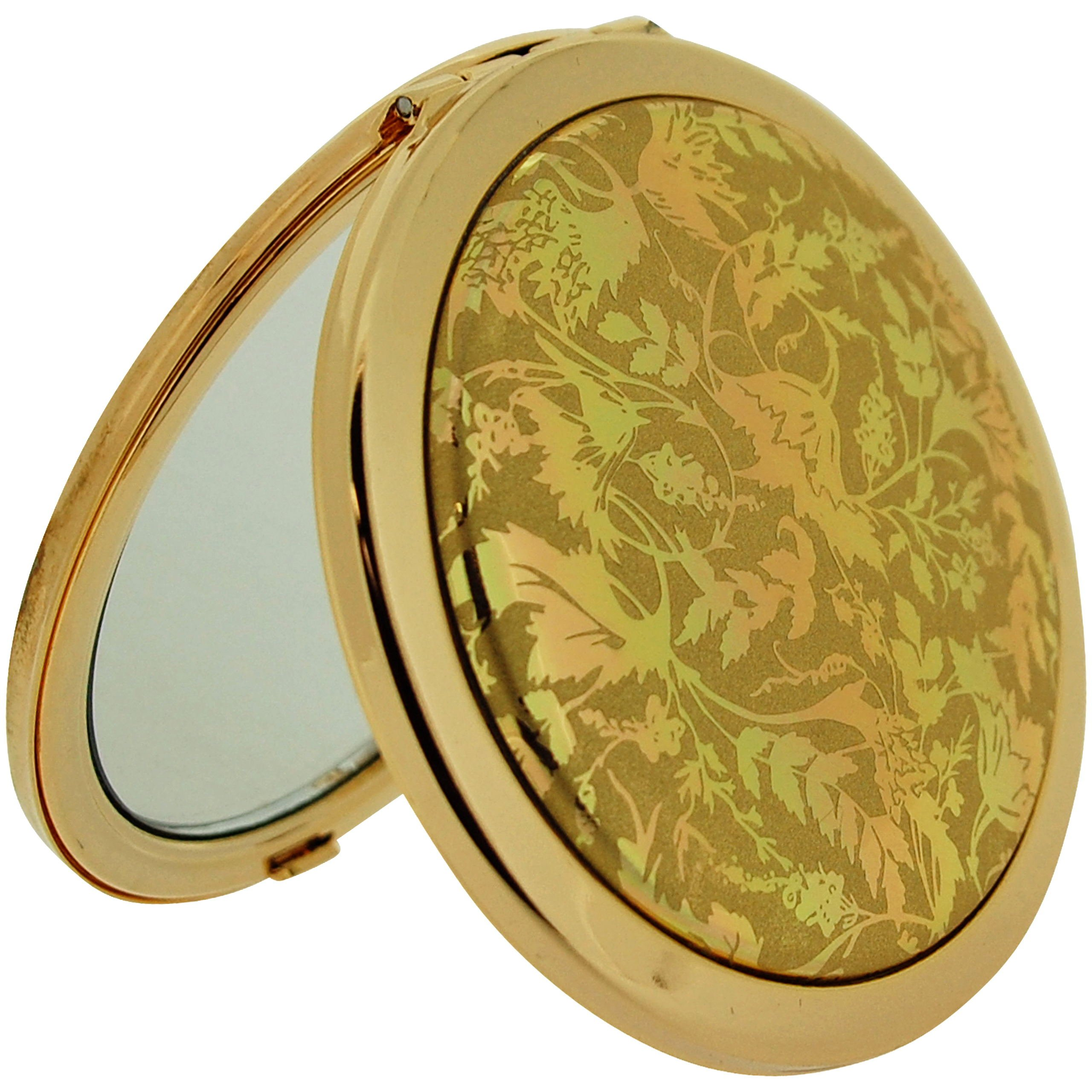 Stratton Compact Mirror Ladies Heritage Collection Double Pocket Mirror 3x Magnification Goldtone Design ST1125