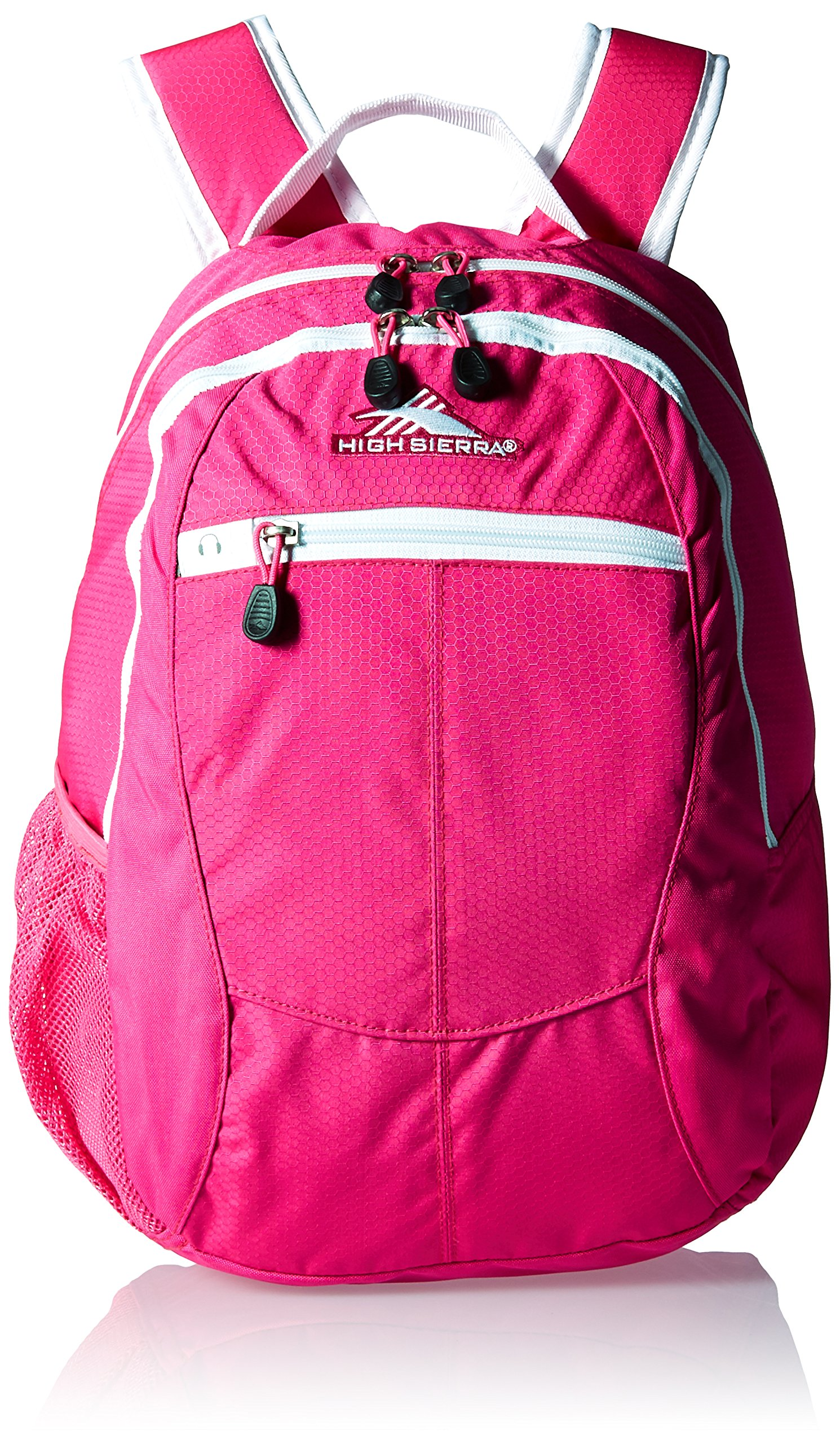 High Sierra Curve Backpack, Flamingo/White