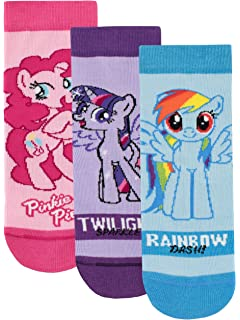 My Little Pony Girls Rainbow Dash Twilight Sparkle Pinkie Pie Socks Pack ...