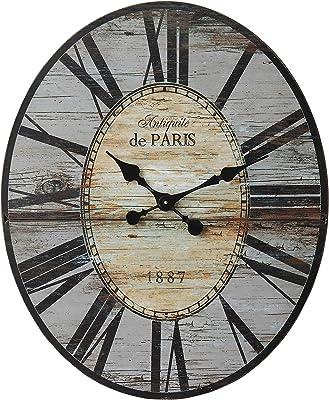 Amazon Com Creative Co Op Antiquite De Paris Wood Oval