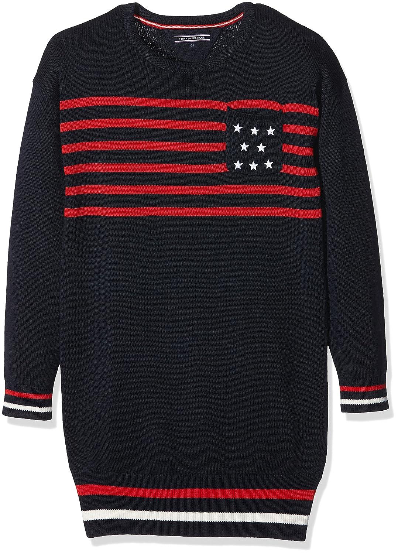 Tommy Hilfiger Mädchen Kleid Iconic Sweater Dress L/s
