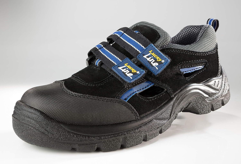 Lucky Line Arbeitsschuhe Sandalen Sicherheitsschuhe S1 Schuhgr/ö/ße 43