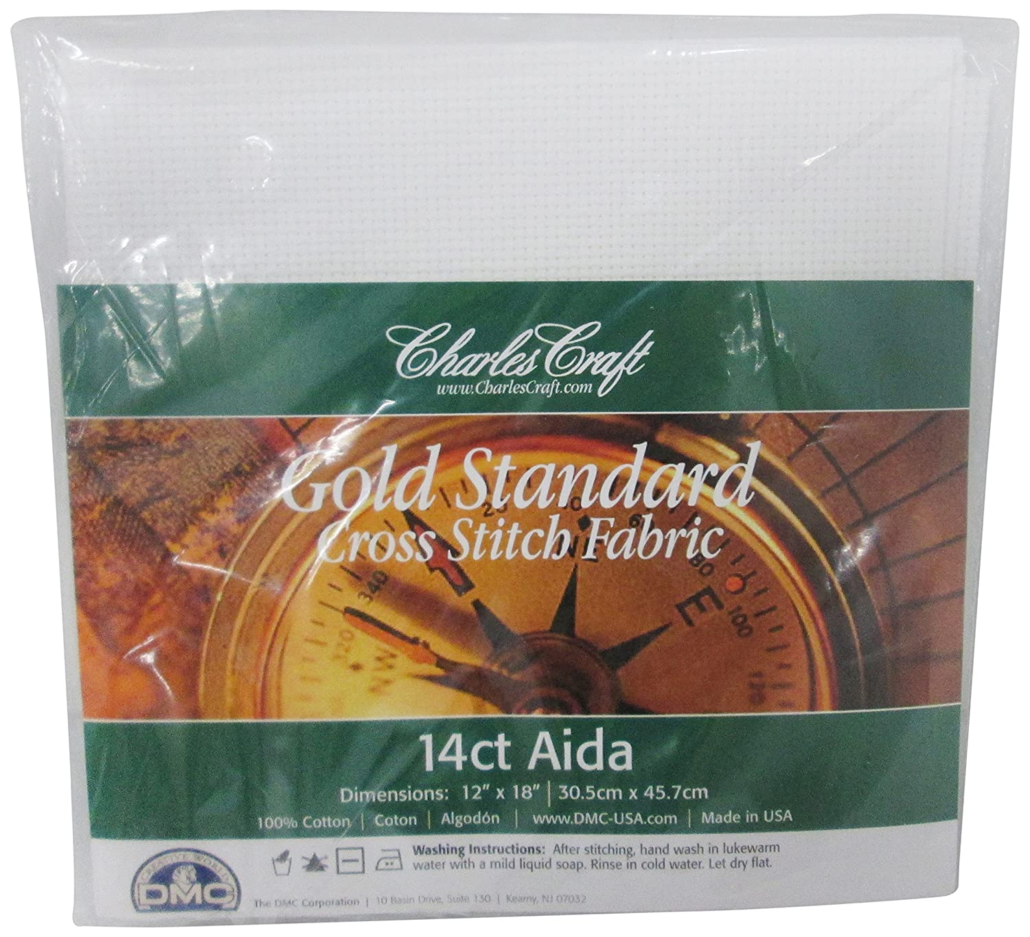 Charles Craft Gold Standard Aida 14 Count 12X18, White Notions - In Network CR5440-6750