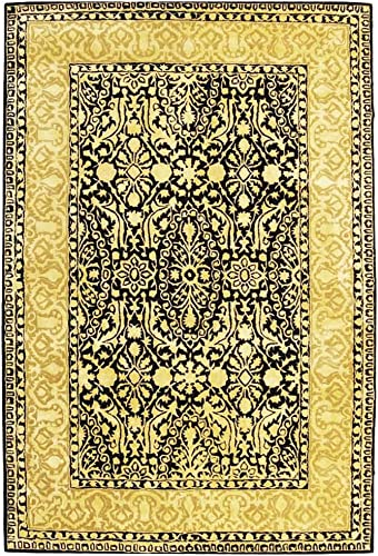 Safavieh Silk Road Collection SKR213B Handmade Black and Ivory New Zealand Wool Area Rug 8'3″ x 11'