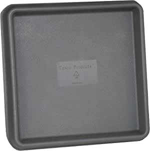 Tusco Products TRSQ12SL Square Saucer, 12-Inch, Slate