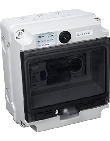 Productos QP Cuadro Electrico CD hasta 2 CV, Negro, 31x25x27 cm, CE0004