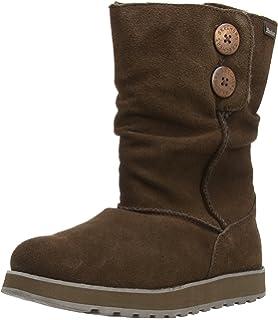 Skechers Keepsakes-Leatherette, Zapatillas de Deporte para Mujer, Brn, 35 EU