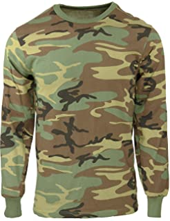 576cd5b656e60 Military Camouflage Long Sleeve T-Shirt Camo Army Tee with ArmyUniverse Pin