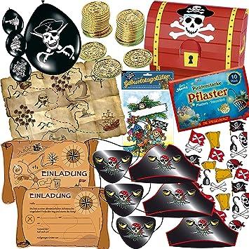 Hochwertig Piraten Und SCHATZSUCHE * Set Für Kindergeburtstag // Mit