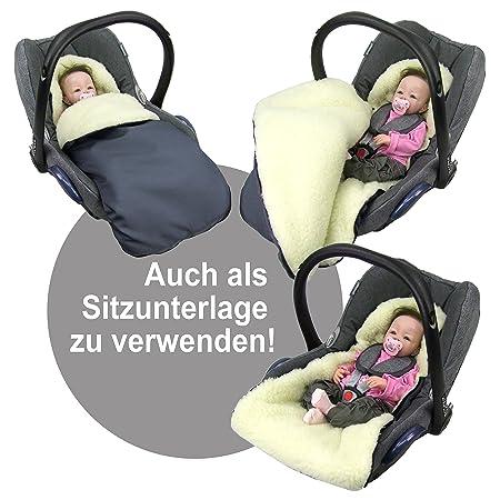 Rawstyle Universal Winterfußsack Aus Lammwolle Für Babyschale Z B Maxi Cosi Römer Etc 10 Farben Wintersack Fußsack Wolle Neu Beige Baby