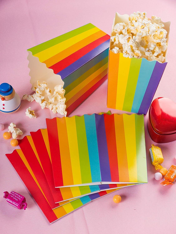 100 Pack Mini Rainbow Popcorn Party Favor Boxes