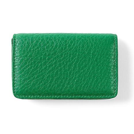 Amazon business card case full grain leather kelly green business card case full grain leather kelly green green colourmoves