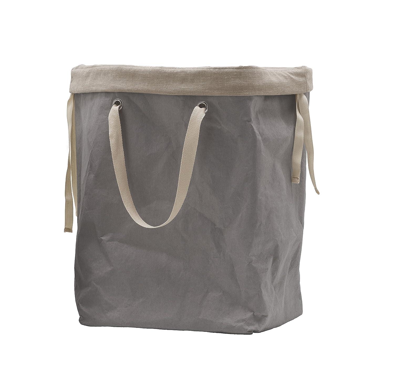 ERIKA 60: Portabiancheria in fibra di cellulosa colore Grigio, con sacco in cotone removibile, cesta per biancheria, contenitore per giochi, borsa mare by Limac Design®. Gavemo