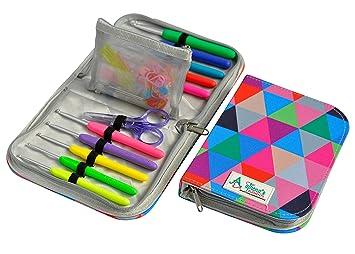 Crochet ganchos y organizador de Estuche de agujas | Premium ...
