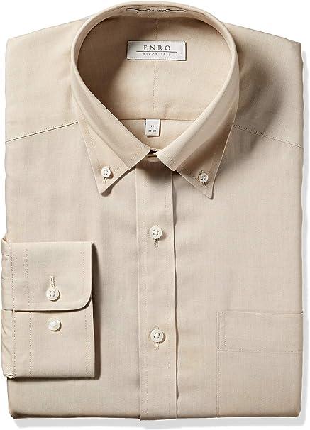 ENRO Classic Essentials Newton Pinpoint Men/'s Dress Shirt Light Blue No-Iron