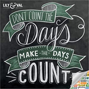 Chalkboard Inspiration - Lily & Val Calendar 2021 Bundle - Deluxe 2021 Motivational Wall Calendar with Over 100 Calendar Stickers (Chalkboard Art Gifts, Office Supplies)