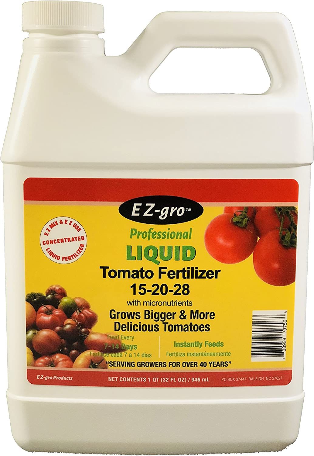 Tomato Fertilizer by EZ-GRO is a High Potassium Fertilizer for Your Tomato Plants | Field Tested Tomato Plant Food for Vegetables | A Concentrated Liquid Tomato Plant Fertilizer | 1 Quart