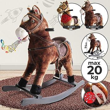 Cavallo A Dondolo Peg Perego.Infantastic Cavallo A Dondolo Peluche Effetti Sonori In Legno E