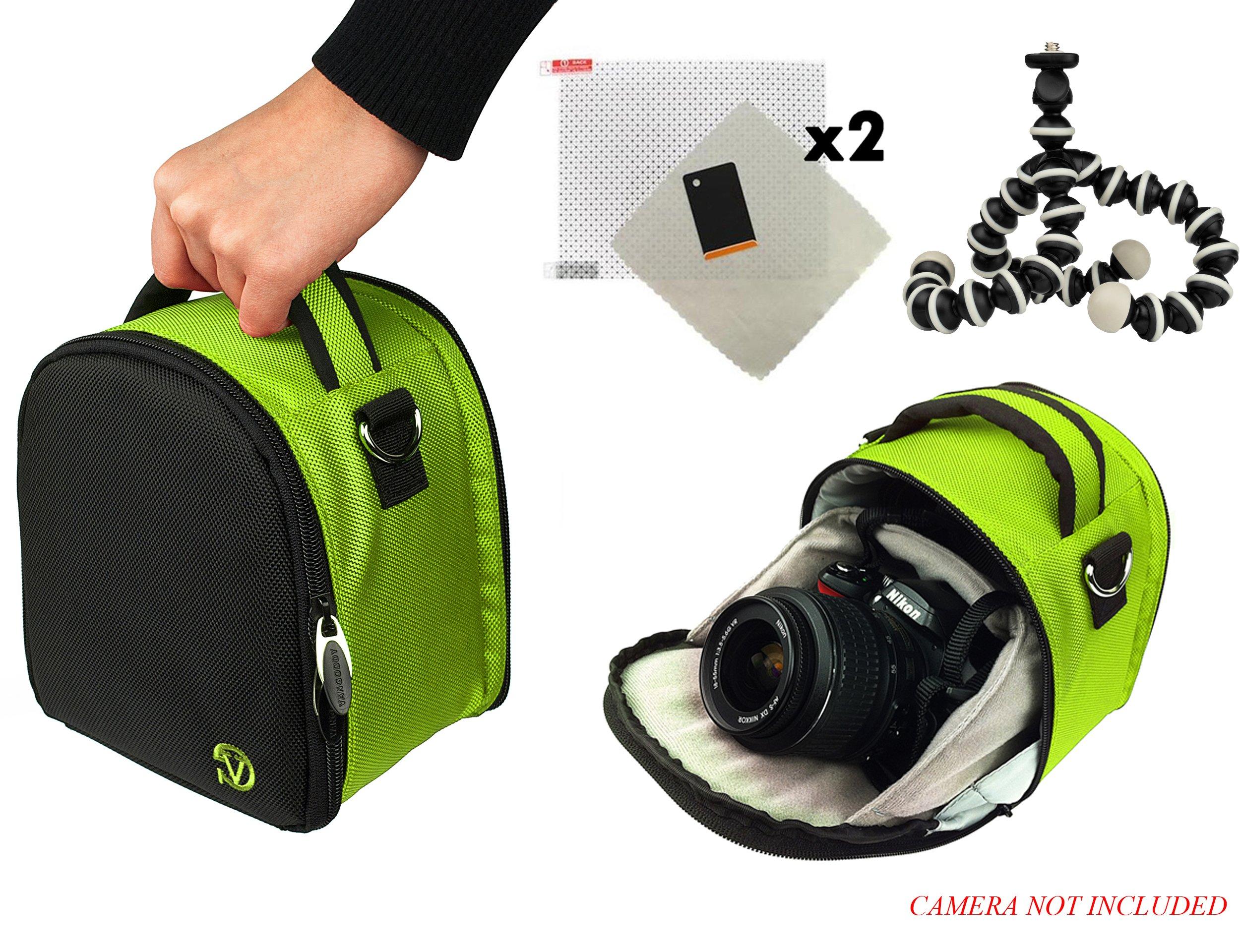 Laurel Travel Camera Bag Case For Samsung WB Series WB1100F, WB2200F, Galaxy NX30 DSLR Camera + Screen Protector + Screen Protector + Mini Tripod