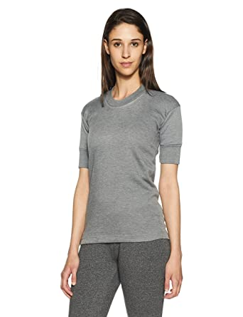 52bf33bb777bc5 Rupa Thermocot Women s Plain Solid Cotton Thermal Top (Agni Grey 100 ...