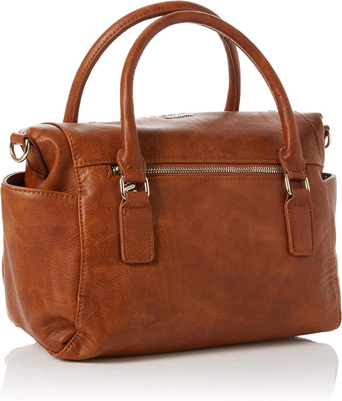 Desigual Women's Bols_dark Amber Loverty Bag Brown (Camel)