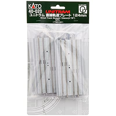 "Kato N Scale Unitram/Unitrack 4 7/8"" 124mm Straight Street Double Track 2 Pieces per Package KA-40-020: Toys & Games"