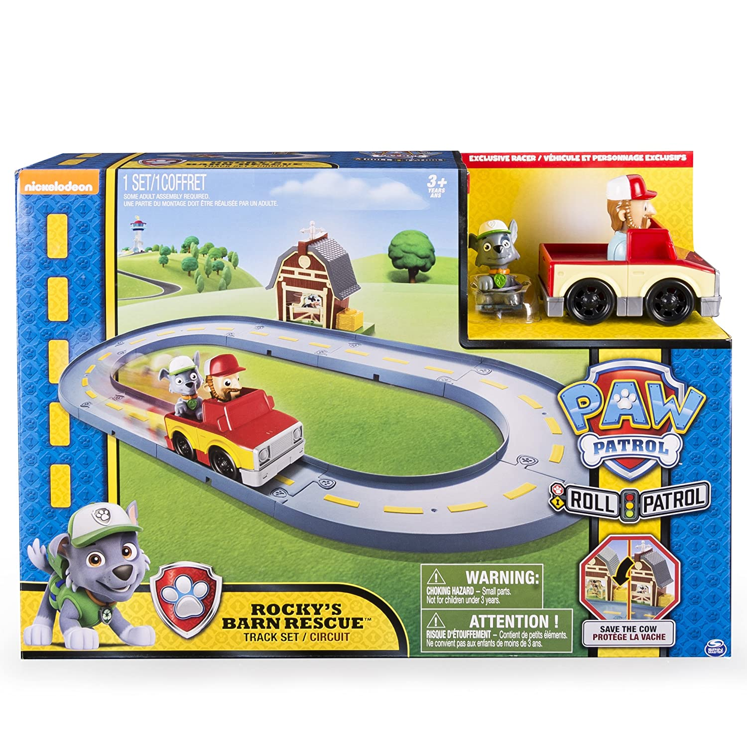 Amazon.com  Paw Patrol Rocky s Barn Rescue Track Set  Toys   Games 5c4167754e