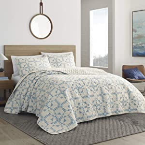 Eddie Bauer Home | Arrowhead Collection | Bedding Set-100% Cotton Light-Weight Quilt Bedspread, Pre-Washed for Extra Comfort, Twin, Blue