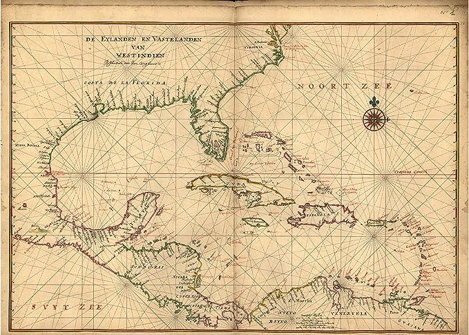 1639 Manhattan Island 16x24 New York Maritime Chart Map