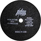 "Shark Industries PN-12712 Die Grinder Cut Off Wheels -10 Pack, 4-Inch x 1/16"" x 3/8"" Shark Type-1 Double-Reinforced Thin Whee"