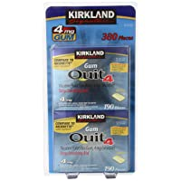 Kirkland Signature Quit Smoking Nicotine Gum, 4 mg (380 Pieces)
