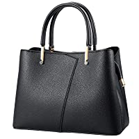 Women's Leather Handbags Shoulder Bags,Medium Classical Style Purses Top Handle Satchel Bag for daily.
