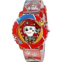 Paw Patrol PAW4016 - Reloj digital infantil con caja roja, correa roja cómoda, fácil de abrochar, diseño oficial de la Patrulla Canina en 3D, seguro para niños