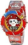 Paw Patrol PAW4016 - Reloj digital infantil con caja roja, correa roja cómoda, fácil de abrochar, diseño oficial de la...